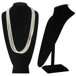 "Black Velvet Extra Tall Necklace Display - 18"" Tall"