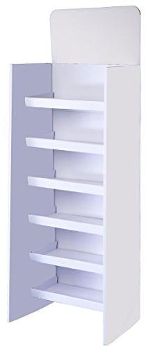 Displays2go Floor-Standing Shelving Unit with 6 Shelves, 71.