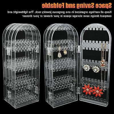 Foldable Jewelry Display Stand Rack Earring Holder Storage US