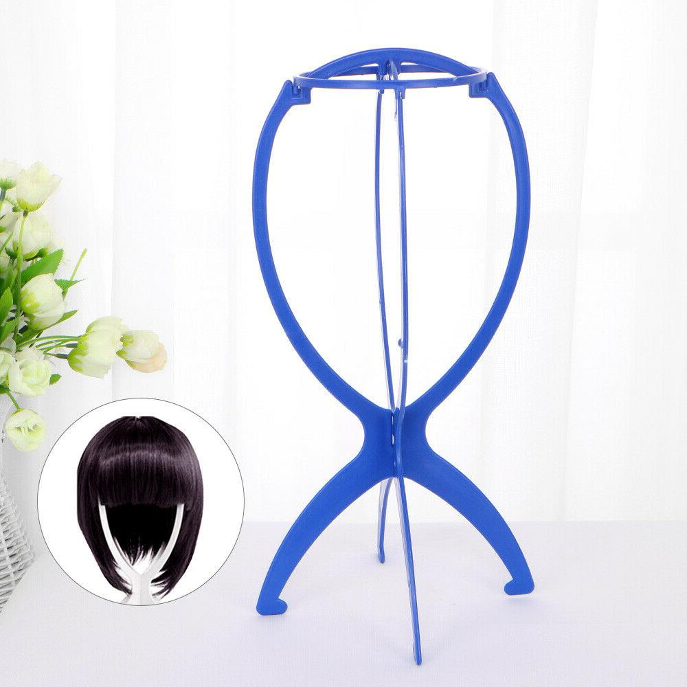 Folding Stable Wig Display Stand Mannequin Dummy Head Hat Ca
