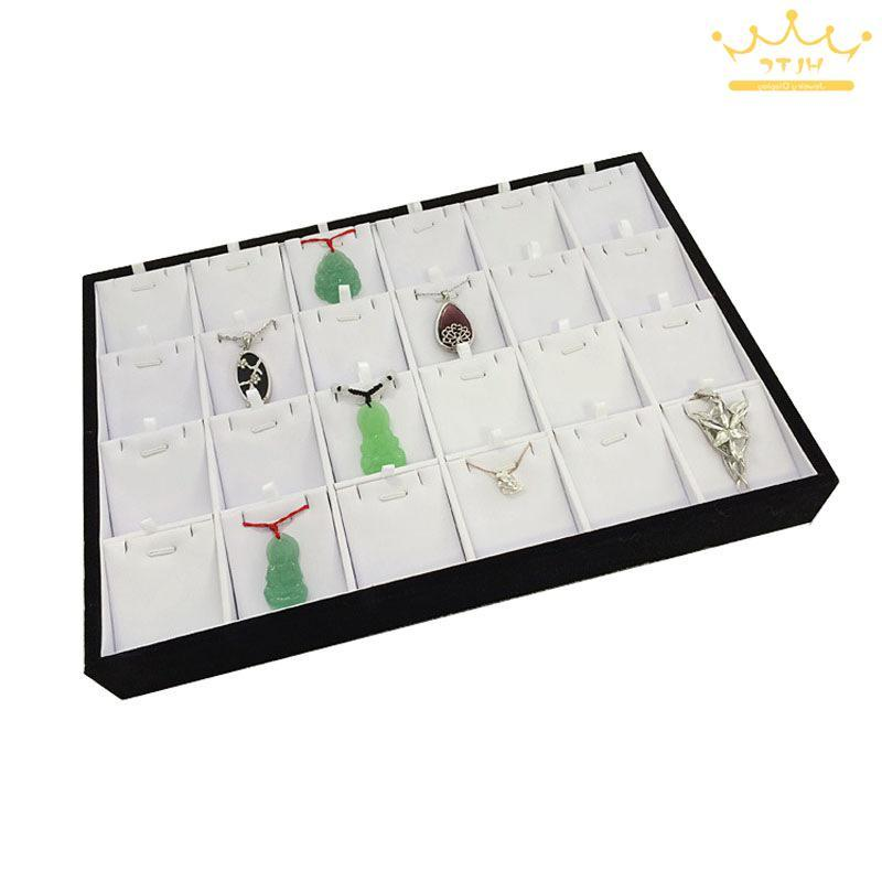 Free Wood Necklace <font><b>Display</b></font> Case Organizer Tray Box <font><b>24</b></font> <font><b>Display</b></font> Jewelry