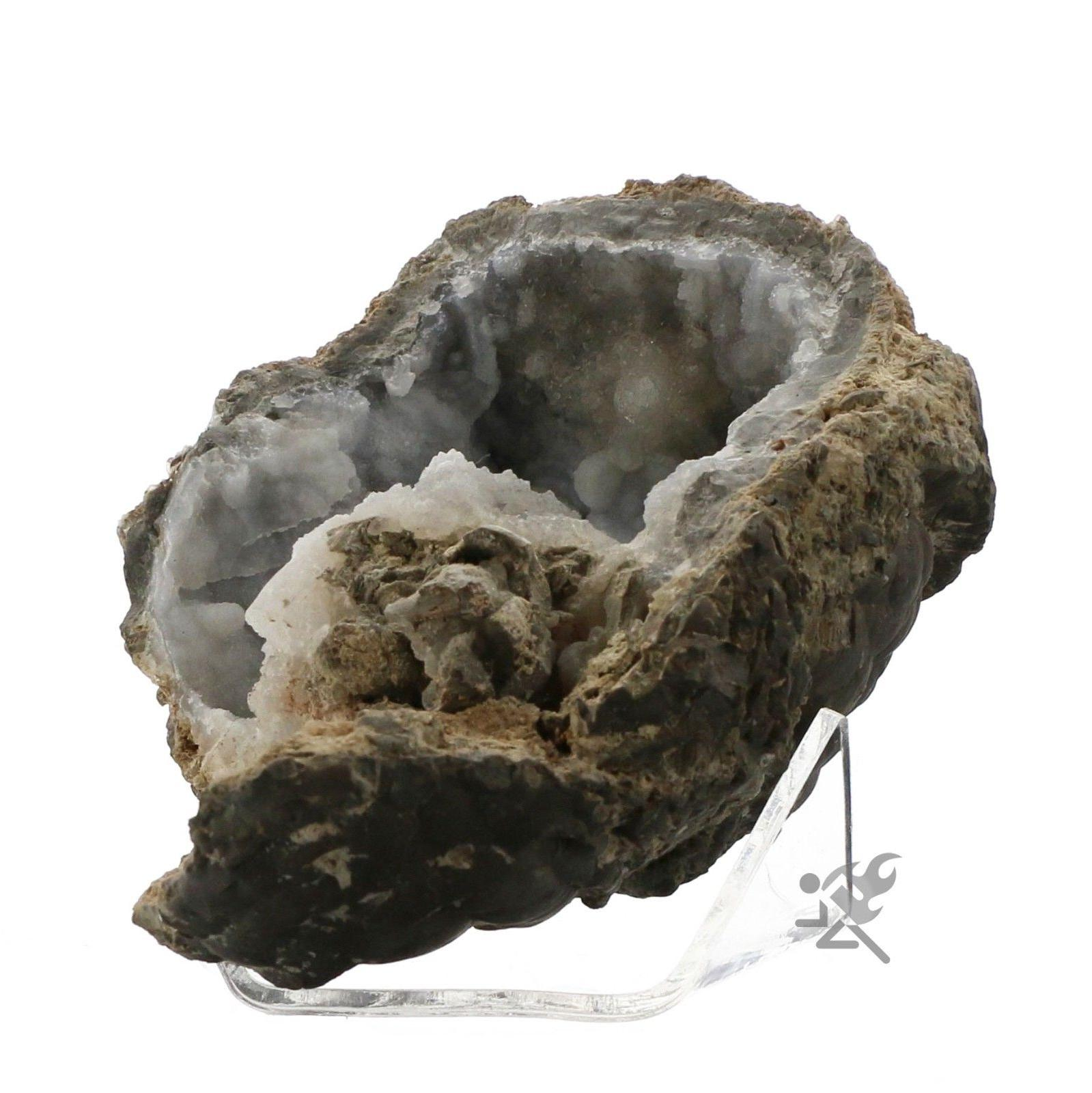 Geode Fossil Mineral Rock Display Stand Holders 3-inch Acrylic
