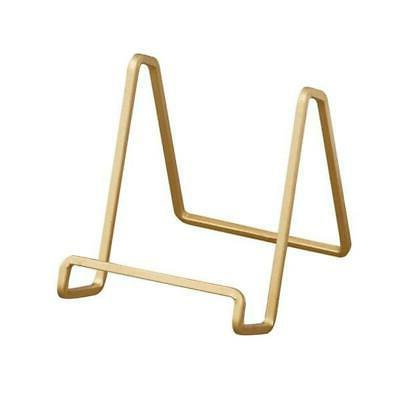 gold metal square wire stand