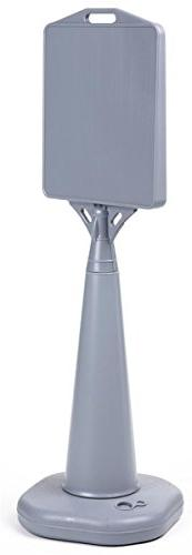 Displays2go Heavy-Duty Grey Plastic Outdoor Cone Sign Holds
