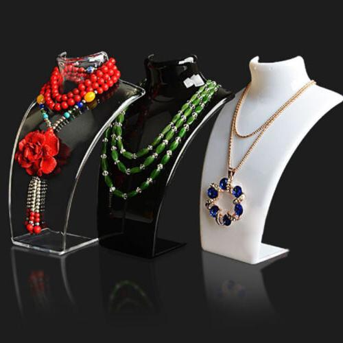 High Pendant Necklace Earrings Bust Neck Display Stand Holde