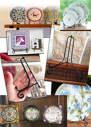 Iron Easel Plate Photo Holder Picture Cookbooks, Plates, Tablets and 7
