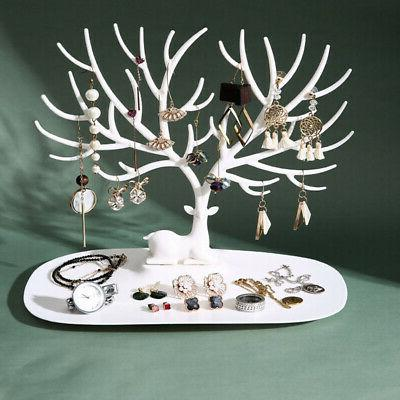 Jewelry Ring Earring Deer Tree Stand Holder