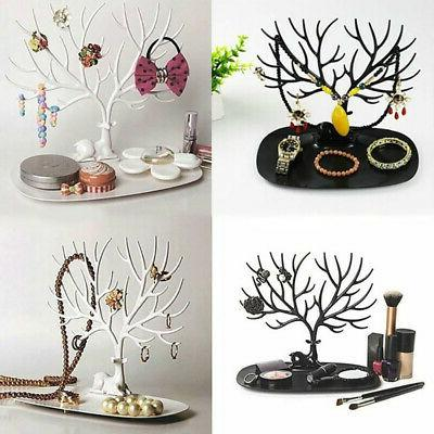 jewelry display organizer necklace ring earring deer