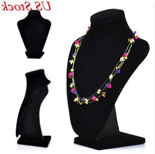 Jewelry Mannequin Necklace Pendant Neck Model Prop Display S
