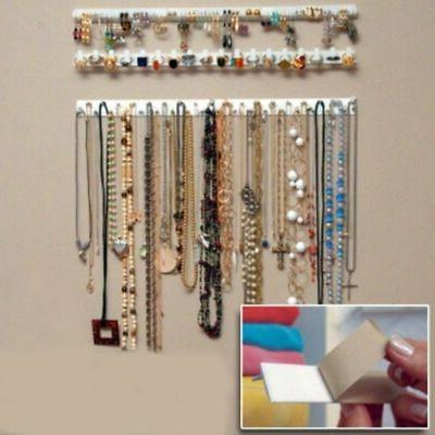 9Pcs Wall Hanger Jewelry Display Stand Organizer Earring Nec