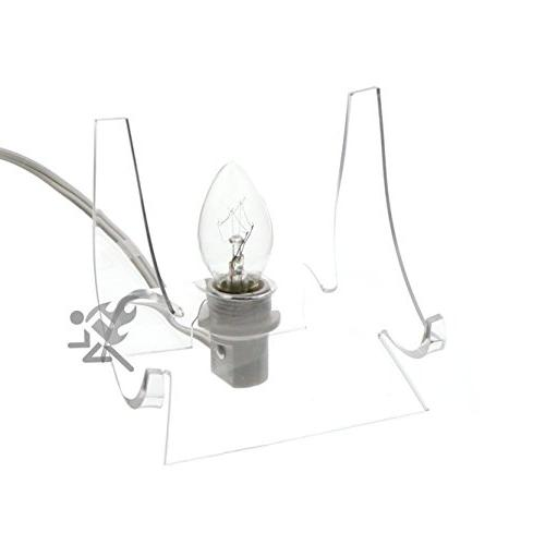 lighted clear acrylic display stand