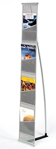 Displays2go Magazine Stand, Rolls Up and Is Portable, 54-Inc