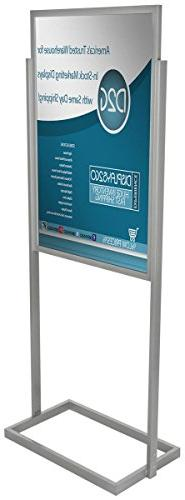 Displays2go MFPH1824SV 24x36-Inch Poster Sign Stand, Double