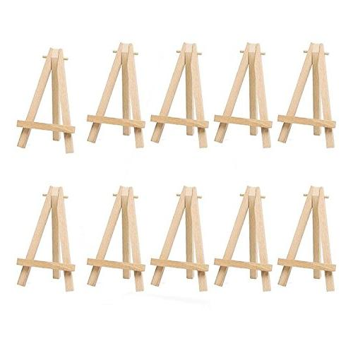 mini wooden artist easel triangle