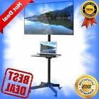 Mobile TV Cart Floor Stand Mount Home Display Trolley for 23