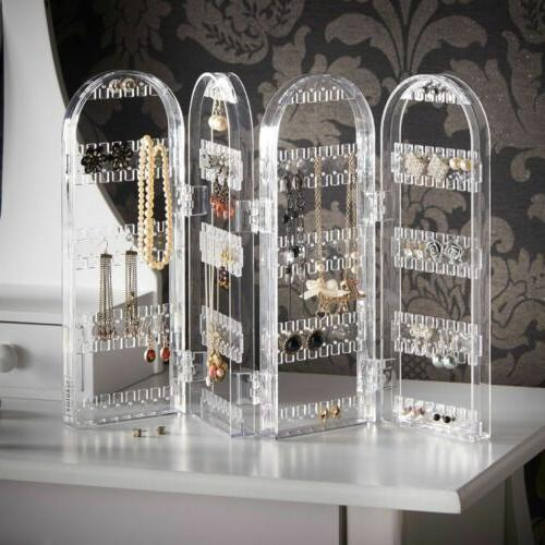 Acrylic Earring Necklace Display Stand Organiser Holder Ear