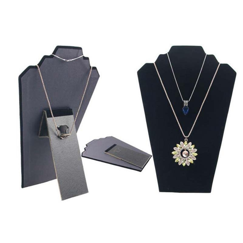 NECKLACE JEWELRY DISPLAY STAND Black Pendant Mannequin PIECES