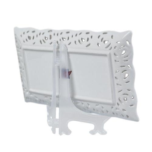 New 5Pcs Photo Frame Easel Display Stand