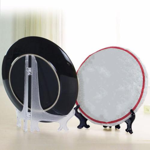 New Plastic Photo Frame Display Easel Display Stand Plate Holders