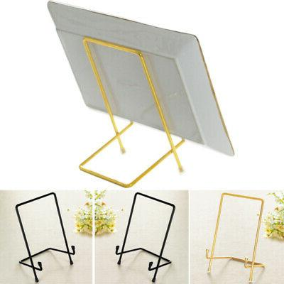 photo holder dish iron display stand easel