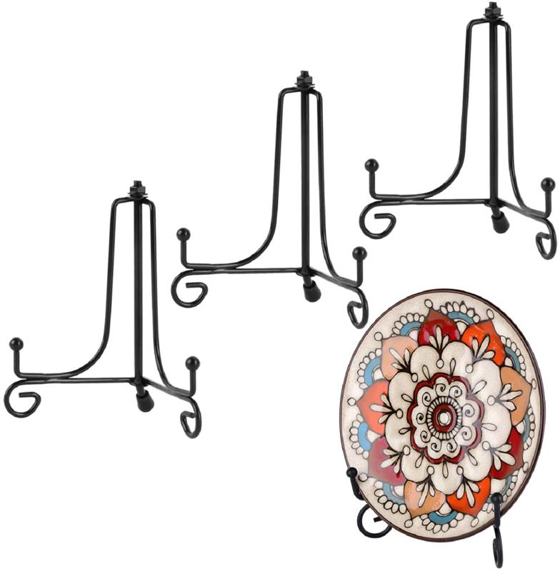 Plate Holder Stand Display 4 In Iron Easel Metal Frame Pictu