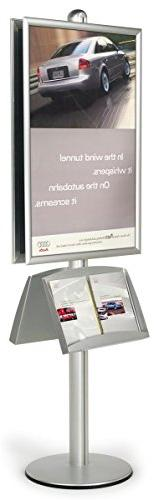 "24"" x 36"" Poster Stand with Literature Pockets, Double-sided"