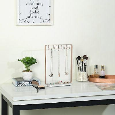 MyGift Rose 9-Hook Display with Wood