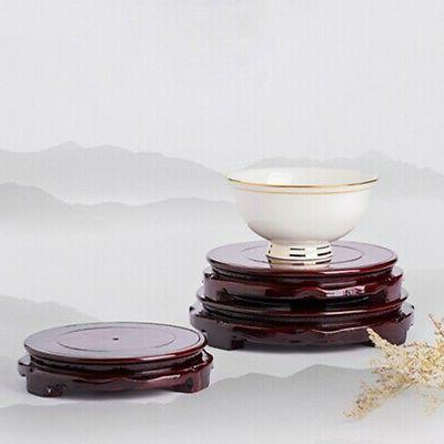 Round Wood Rotatable Base Vase Incense