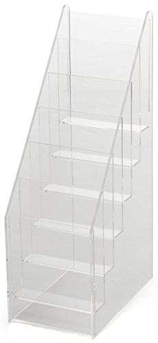 Set of  - 4-3/8 x 14-3/8 x 7-3/8-inch, Tiered Clear Acrylic