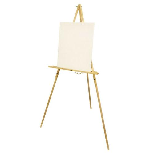 Wooden Stand Floor Display Painting Art Craft Sketch Triangl
