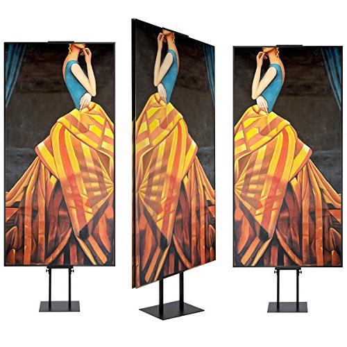 HUAZI Sign Duty Pedestal Poster Sign with Adjustable Height for & Foam,Black