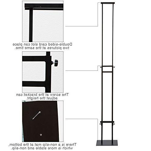HUAZI Sign Duty Sign Stand Adjustable Height for Board &