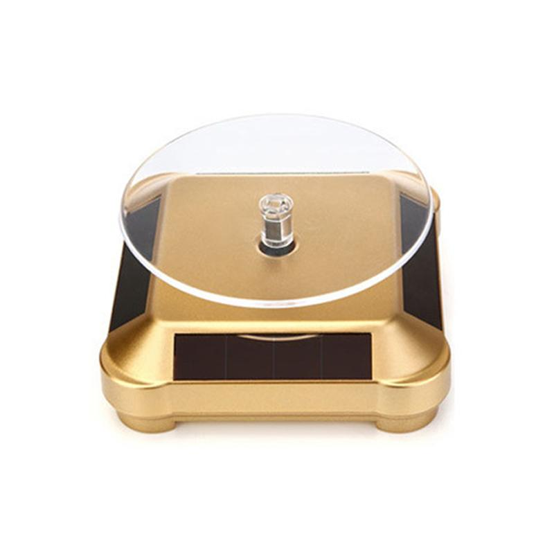 Solar Automatic Rotating Turntable Jewelry Necklace Watch <font><b>Display</b></font> LXH