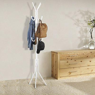 "Stainless Steel 3-Tier 70"" Hat Coat Rack Purse Display Stand"
