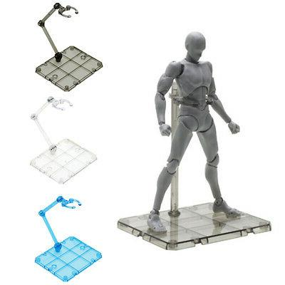 Clear Action Figure Holder Display Stand Base for HG RG SD S