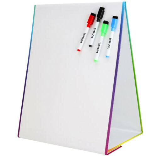 Tabletop Easel & Whiteboard 4 Erase Markers. Art White Educational Toy