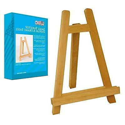 """Small 11"""" Tall Wood Tabletop Display A-Frame Art Painting Ea"""