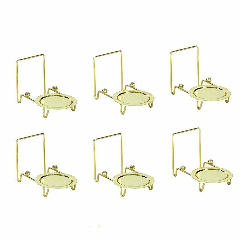 Tea Display Stand Brass 6pc Base