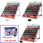 8 Tier Nail Polish Rack Black Organizer Display Stand Hold t