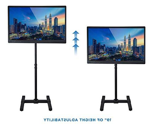 Portable TV Standing Fits 27 30 35 40 Height Telescoping For Use, VESA 100 200, 44 Lbs