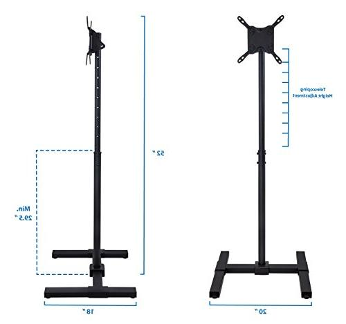 Portable TV Stand Standing 30 32 35 37 40 Height Adjustable Telescoping For Use, VESA and 200, 44