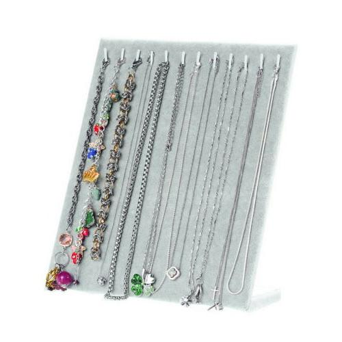 US Velvet Necklace Chain Stand Rack Storage Holder
