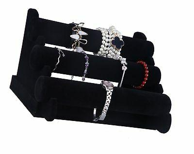 Juvale Jewelry Display Stand & Bangles, Black, x