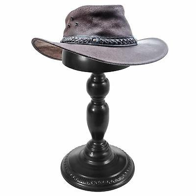 MyGift Vintage Black Hat and Stand, Set
