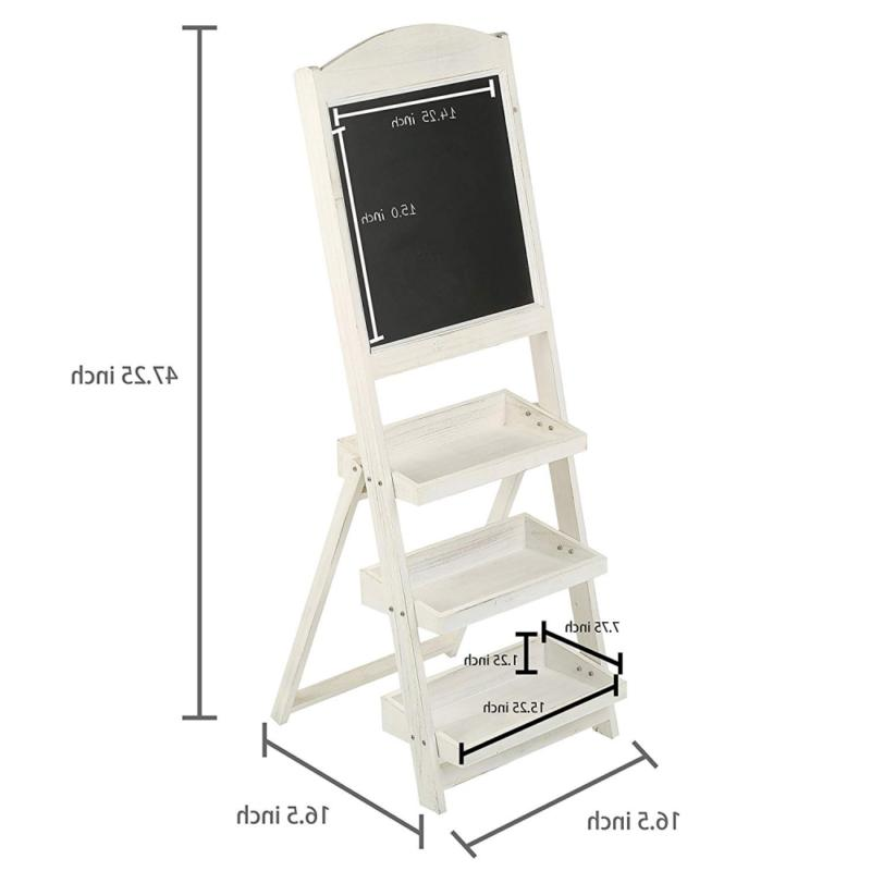 MyGift White Freestanding 3 Display
