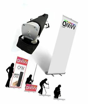 """VViViD Retractable Roll Up Banner Stand 32"""" x 79"""" Trade Sh"""