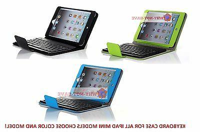 Wireless Bluetooth keyboard Leather Case with Stand for All
