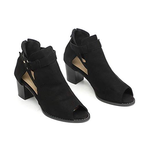 Women Heel Open Toe Cutout Wedge Heel Platform