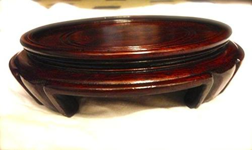 wood plate stand