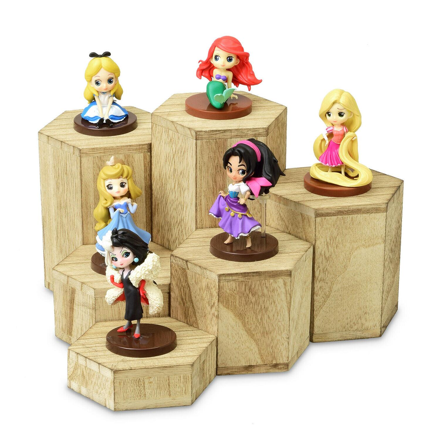 Wooden 6 Pcs Risers Display Jewelry and Accessories Stand